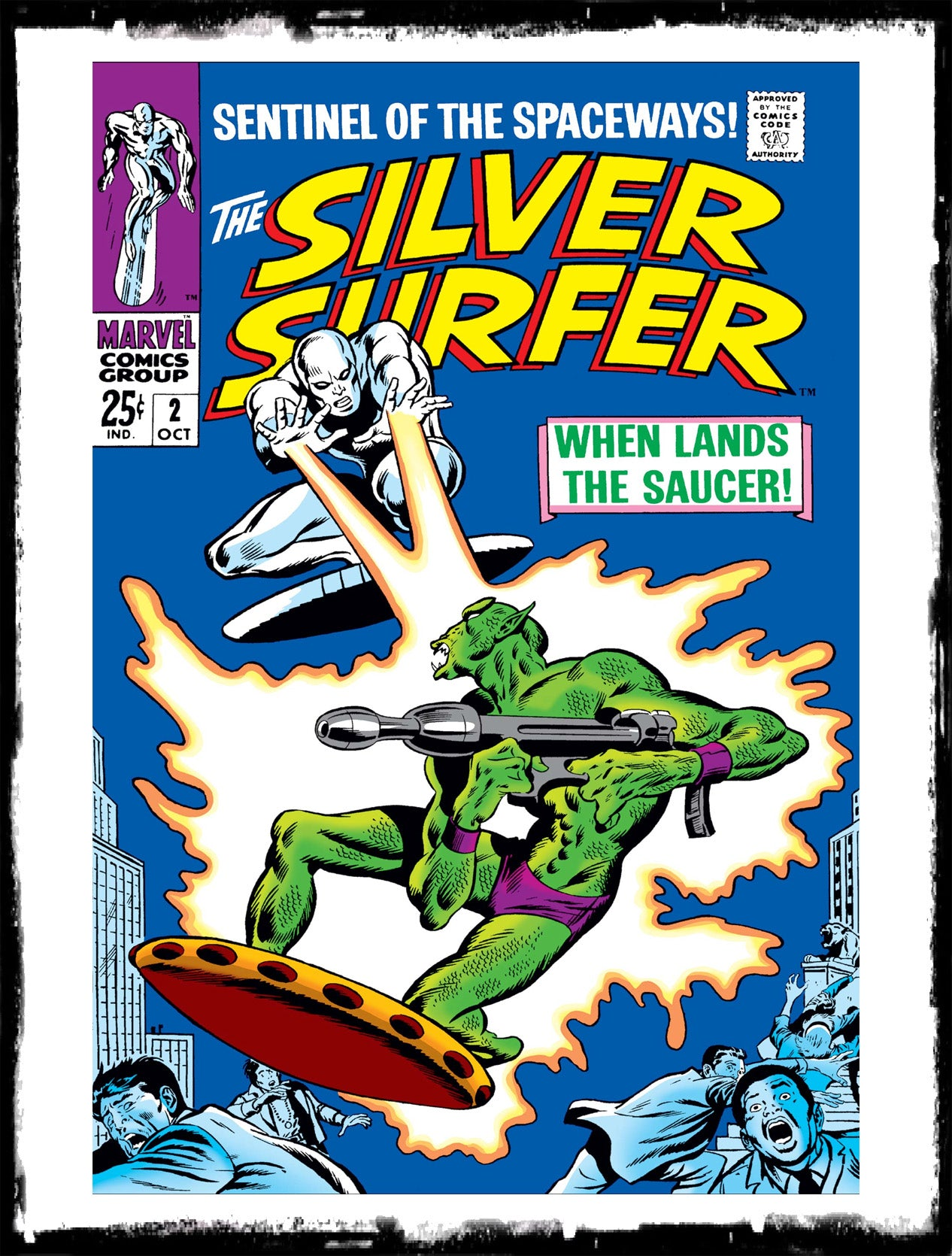 "SILVER SURFER - #2 ""WHEN LANDS THE SAUCER!"" (1968 - VF)"