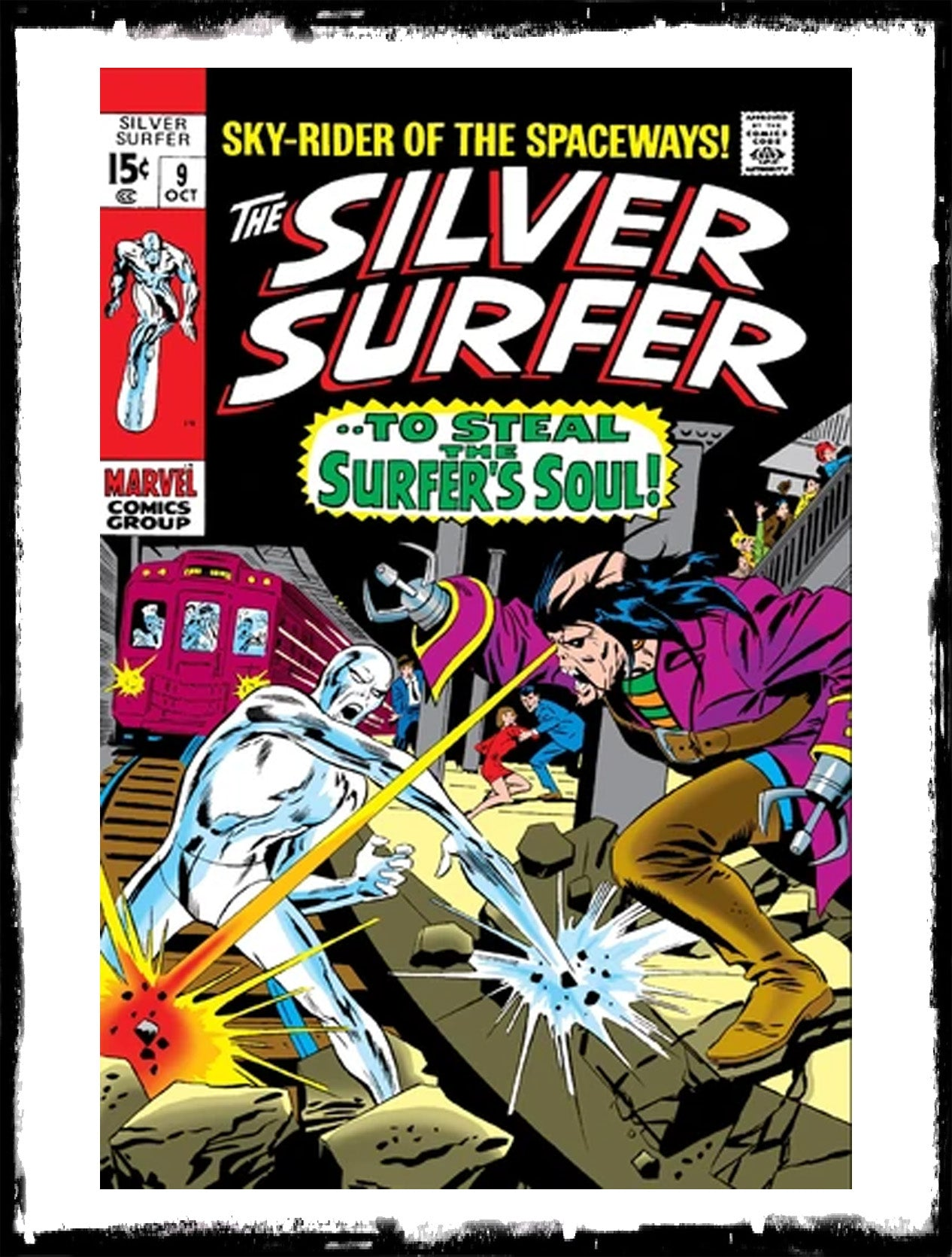 "SILVER SURFER - #9 ""TO STEAL THE SURFER'S SOUL"" (1969 - VF-)"