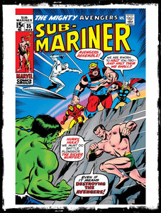 SUB-MARINER - #35 PRELUDE TO 1ST DEFENDERS STORY (1971 - VF+)