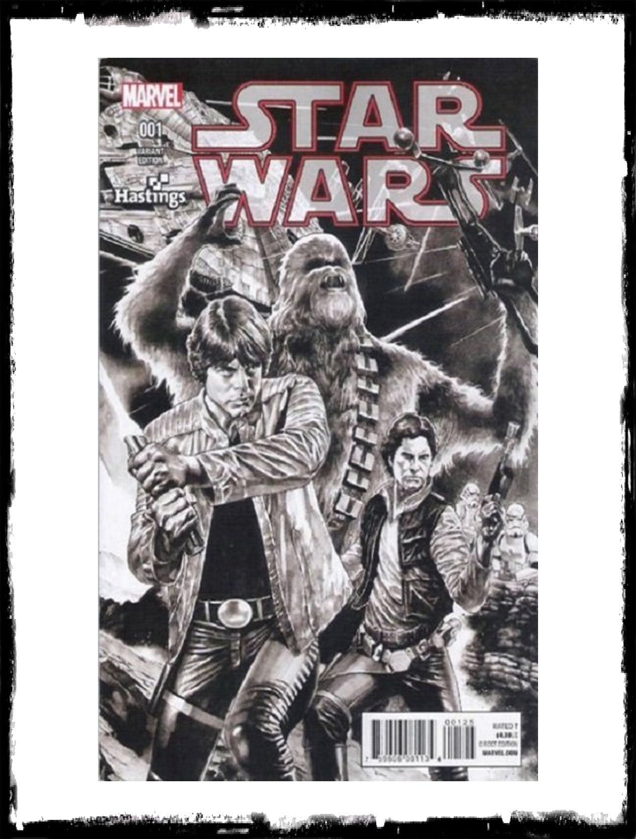STAR WARS - #1 MICO SUAYAN HASTINGS SKETCH VARIANT (2015 - CONDITION NM)