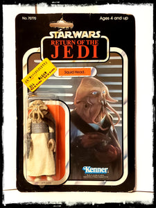 STAR WARS SQUID HEAD - VINTAGE 1983 RETURN OF THE JEDI CARDED ACTION FIGURE!