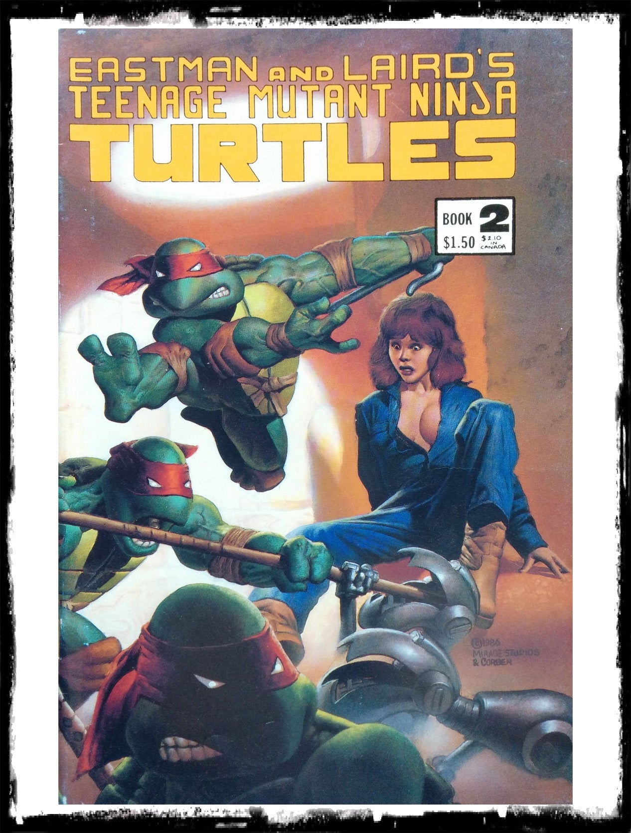 TEENAGE MUTANT NINJA TURTLES - #2 - 3RD PTG (1985 - VF)