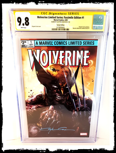WOLVERINE - #1 CGC SS 9.8 SIGNED CLAYTON CRAIN VARIANT (2020 - NM)