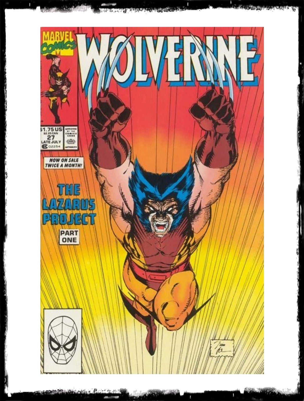 WOLVERINE - #27 JIM LEE CLASSIC COVER! (1990 - VF+/NM)
