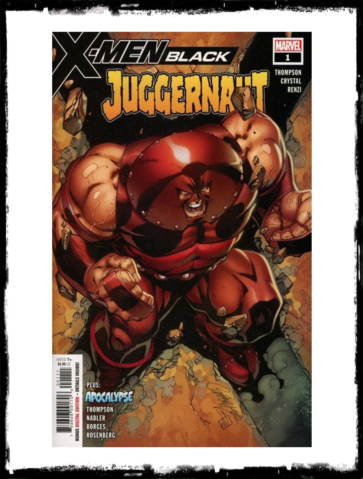 X-MEN BLACK: JUGGERNAUT - #1 J. SCOTT CAMPBELL COVER (2018 - VF+/NM)