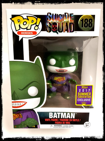 BATMAN (JOKER) #188 - 2017 SUMMER CONVENTION EXCLUSIVE! - FUNKO POP! (2017)