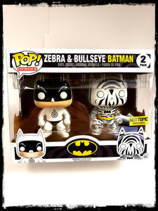 BULLSEYE BATMAN & ZEBRA BATMAN (2-PACK) - HOT TOPIC EXCLUSIVE! - FUNKO POP! (2016)