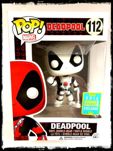 DEADPOOL (BLACK & WHITE) #112 - 2016 SUMMER CONVENTION EXCLUSIVE! - FUNKO POP! (2016)