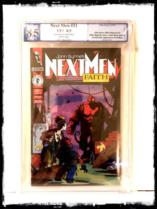 JOHN BYRNE'S NEXT MEN - #21 1ST FULL APPEARANCE OF HELLBOY (GRADED PGX 8.5)