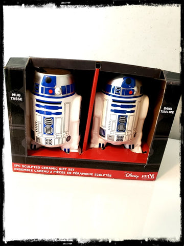 STAR WARS - R2-D2 2 PIECE CERAMIC MUG & BANK SET