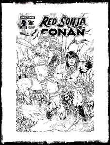 RED SONJA / CONAN - #1 ED BENES B&W VARIANT (2015 - CONDITION NM)