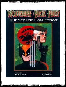 WOLVERINE/NICK FURY: THE SCORPIO CONNECTION - 1989 - NM OUT OF PRINT HARDCOVER!