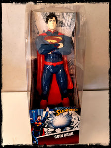 DC - SUPERMAN 14 INCH VINYL FIGURE - COIN BANK