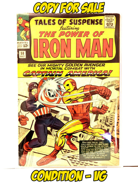 TALES OF SUSPENSE - #58 (1964 - CONDITION VG+)