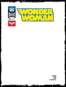 WONDER WOMAN - #58 BLANK VARIANT COVER (2019 CONDITION NM)