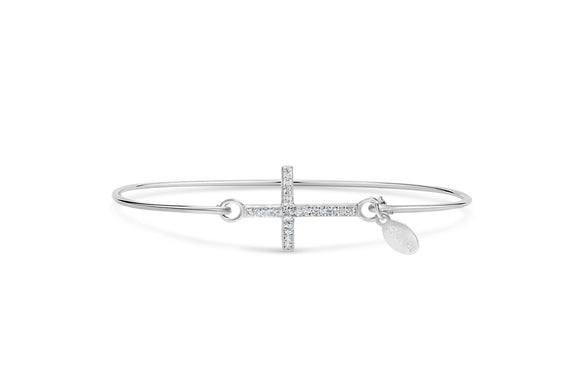 Cross Pave Icon SS Bracelet