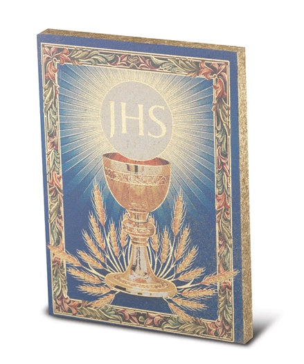 Communion Small Gold Embossed Plaque