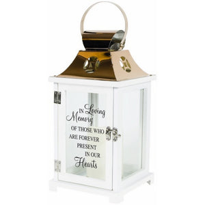 In Loving Memory Lantern with Flicker Pillar Candle
