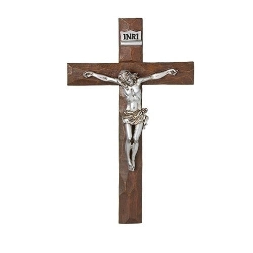 "11.5"" Weathered Resin Crucifix"