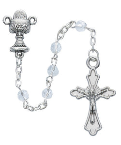 Crystal Communion Rosary in Cross Box