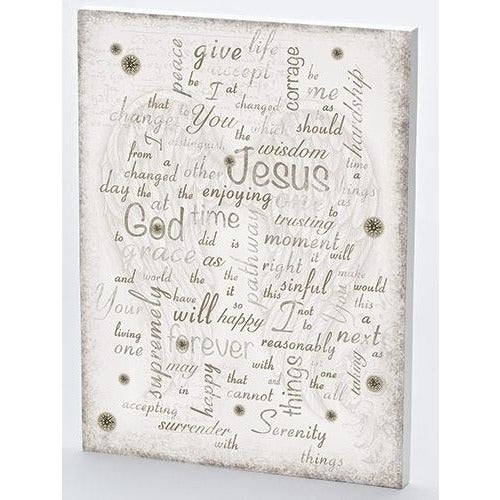 Serenity Word Plaque