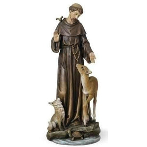 "14"" St Francis with Deer Figure"