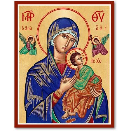 OLO Perpetual Help Icon Plaque 4x6