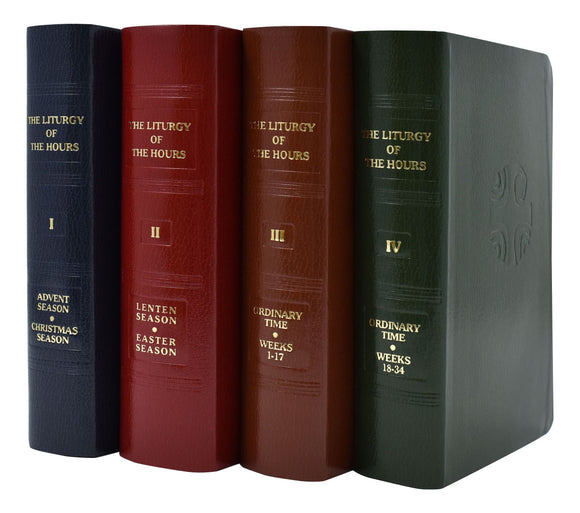 Liturgy Of The Hours 4 Volume Set Imitation Leather
