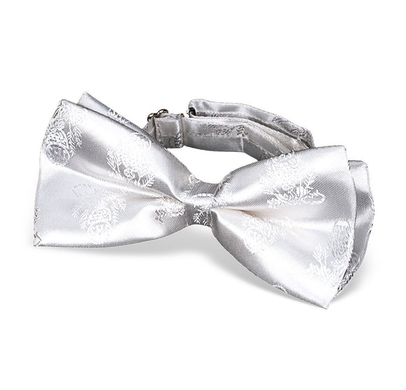 White Brocade First Communion Bow Tie