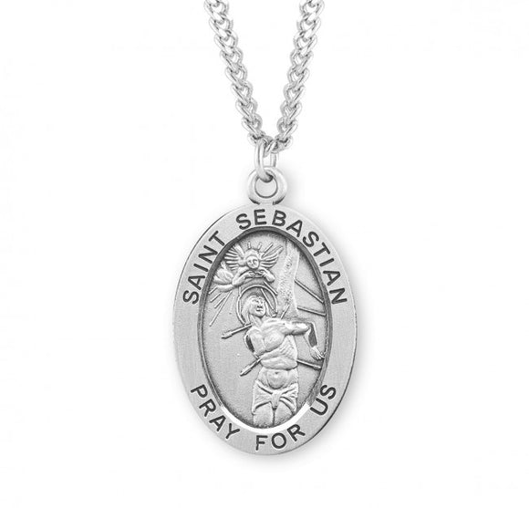 St Sebastian SS Xtra Large Oval Necklace