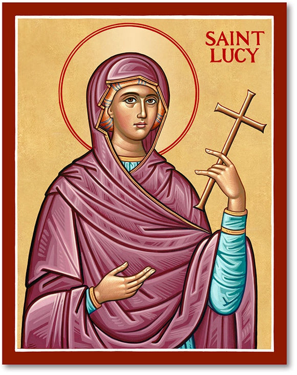 St Lucy Icon Plaque
