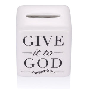 "2.5"" Ceramic Give it to God Prayer Box"