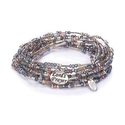 Lord's Prayer Multi-Color Morse Code Wrap Bracelet