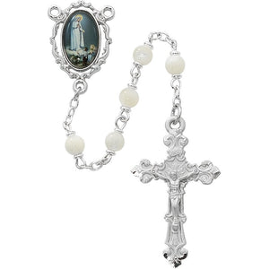 5mm Mother Of Pearl Fatima Rosary
