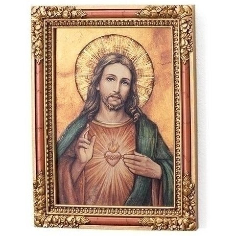 Sacred Heart Of Jesus Icon Square Plaque