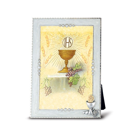 Pearlized First Communion Chalice Frame