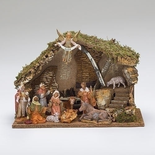 11 Figure Resin Nativity Scene Set