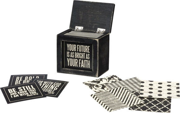 Black Words Of Wisdom Faith Box Of Quotes