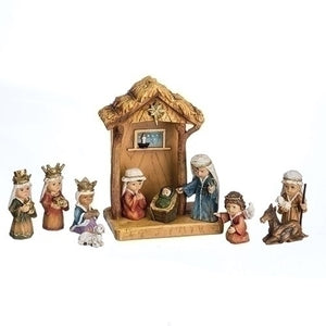 "11 Piece Kid Nativity Pageant with 8"" Stable"