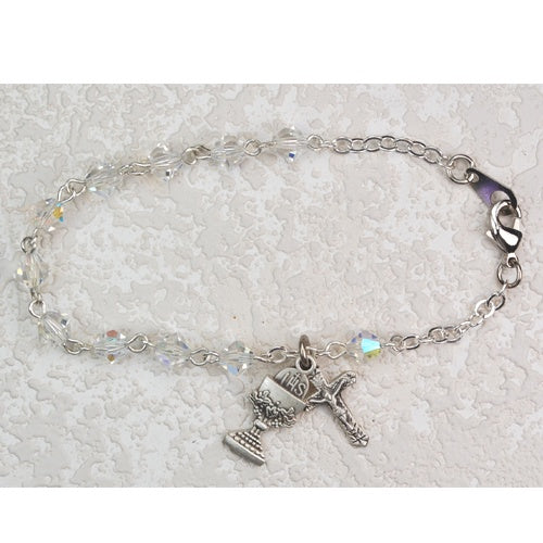Crystal SS Youth Bracelet with Chalice