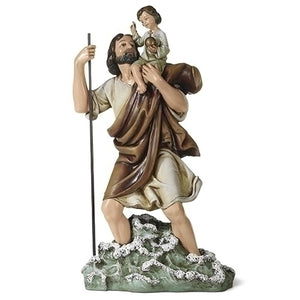 "10.75"" St Christopher Figure"
