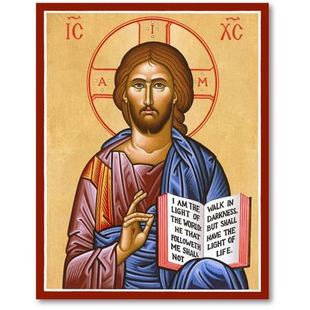 Christ The Teacher Icon Plaque 4x6
