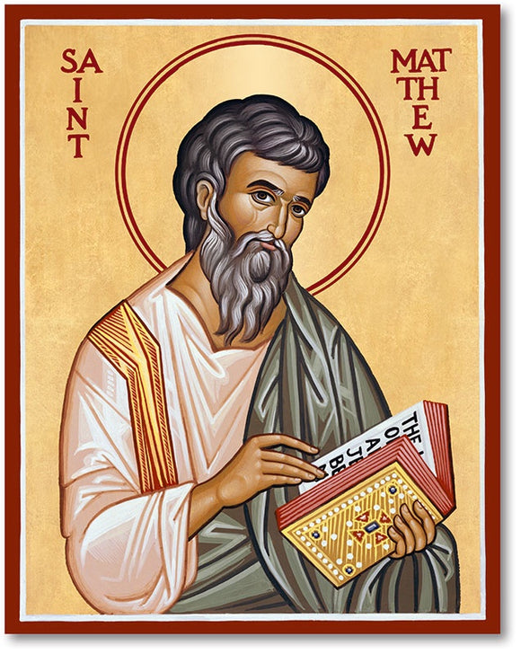 St Matthew Icon Plaque