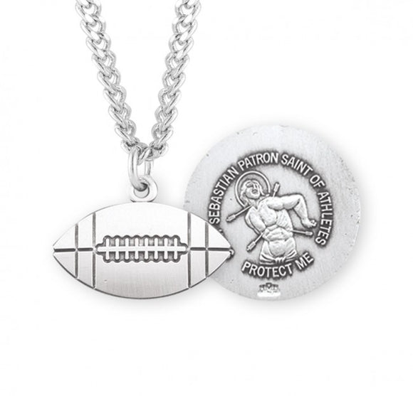 St Sebastian SS Football Medal Necklace
