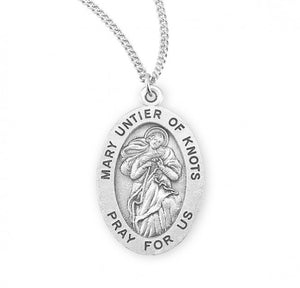 Mary Untier Of Knots SS Oval Necklace
