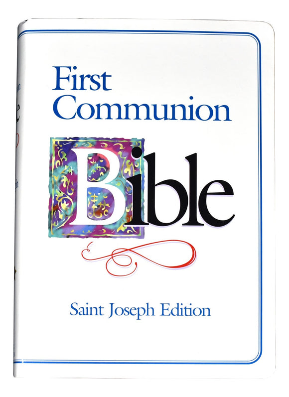 First Communion Bible Blue Edge