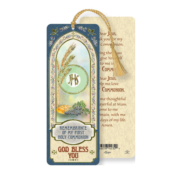 First Communion Laminated Bookmark