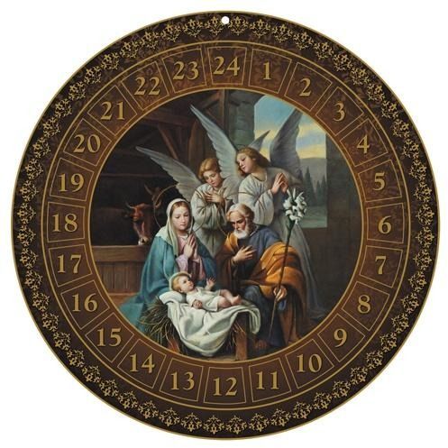 Round Nativity Advent Calendar