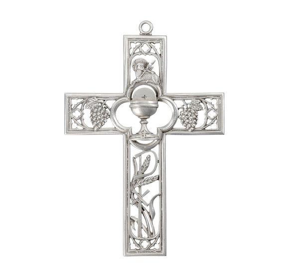 Pewter First Communion Cross With Chalice