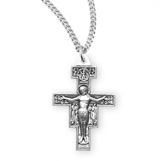 SS San Damiano Small Crucifix Necklace